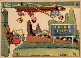 PUBLICITES -  Carte à Découper - CREME ECLIPSE - Cirage - Illustrée Par EDOUARD BERNARD - Canoe - Publicités