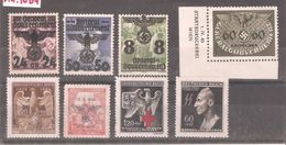 Germany 1939-44 Occupation Lot Of 8 Stamps,Bohemia ,Poland ,Mint* /1 MNH** - Occupation 1938-45
