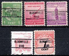 USA Precancel Vorausentwertung Preo, Locals Ohio, Bloomville 734, Error OIH, 5 Diff. - Vereinigte Staaten