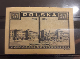 Poland 1946,WW-2 Warsaw War Aftermath,6zl,Imperf,Sc 377,VF MLH* - 1944-.... Republic