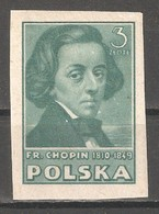Poland 1947,Composer Chopin,Imperf,Sc 403C,VF MLH*OG - 1944-.... Republic