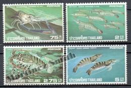 Thailande - Thailand 1976 Yvert 774-77, Shellfish - MNH - Thailand