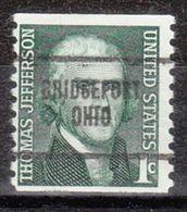 USA Precancel Vorausentwertung Preo, Locals Ohio, Bridgeport 704 - Vereinigte Staaten