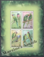 Thailande - Thailand 2001 Yvert BF 144A, Fauna. Parrots - Miniature Sheet - MNH - Tailandia