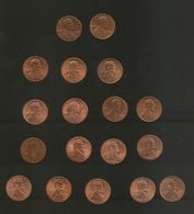 U.S.A. - STATI UNITI D' AMERICA - ONE CENT Lincoln - Lot Of 18 Different Coins / Different Dates - Emissioni Federali