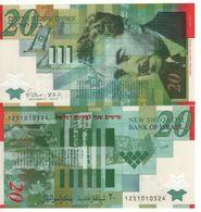 "ISRAEL   20 New Sheqalim POLIMER  ""Commemorative""    P63 (2008)   ( Moshe Sharett )  UNC - Israel"
