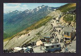 CPSM 65 - COL DU TOURMALET - Départ De La Route Du Pic Du Midi De Bigorre Un Jour De TOUR DE FRANCE TB ANIMATION - Cyclisme