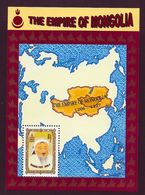MONGOLIA 1997  FAMOUS PEOPLE CHINGGIS  KHAAN EMPIRE  MONGOLIA MAP S/S BLOCK  MNH SUPERB - Mongolia