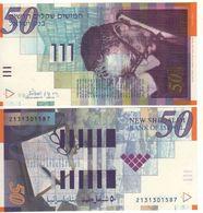 ISRAEL   50 New Sheqalim  P60b   (2001)   ( Shmuel Yosef Agnon )  UNC - Israel