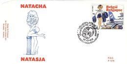 BELGIQUE 2528 FDC Premier Jour NATACHA NATASJA Cachet BRUXELLES François WALTHERY 06 - Comics