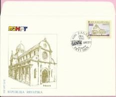 Croatian City - Šibenik, Zagreb, 28.4.1992., Croatia, FDC-HPT 10/92 - Croatia