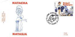 BELGIQUE 2528 FDC Premier Jour NATACHA NATASJA Cachet TORHOUT François WALTHERY 07 - Comics