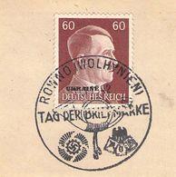 MiNr.17 SST Rowno Auf Briefstück  Deutsches Reich Besetzte Gebiete Ukraine - Besetzungen 1938-45