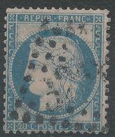 Lot N°40438   Variété/n°37, Oblit GC, Trait Blanc Coté Perles NORD EST - 1870 Siege Of Paris
