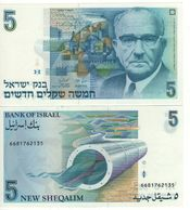ISRAEL   5  New Sheqalim  P52b   (1987)   ( Levi Eshkol )  UNC - Israel