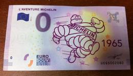 63 CLERMONT FERRAND L'AVENTURE MICHELIN N°4 BILLET ZERO EURO SOUVENIR 2018 BANKNOTE BANK NOTE PAPER MONNAIE - EURO