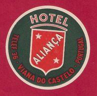 Etiquette HOTEL ALIANCA.   Portugal.   Luggage Label. - Hotel Labels