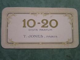 10-20 Divin Parfum  T. JONES - PARIS - Cartes Parfumées