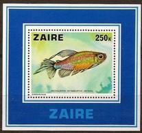 Zaire 1978 OCBn°  Bloc 25  *** MNH Cote 15,00 Euro Fauna Poissons Vissen Fish - Zaïre