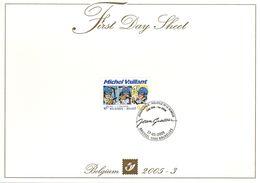 BELGIQUE 3335 FDC FDS Michel VAILLANT De J. GRATON Journal Tintin Hergé Cachet 1er Jour 2005 - 2 - Comics