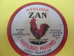 Boite Métallique Ancienne /Réglisse ZAN/ Pastillages Parfumés/Uzés-Marseille/Chambon/Nantes/ Vers 1950-1970    BFPP179 - Boxes