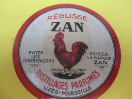 Boite Métallique Ancienne /Réglisse ZAN/ Pastillages Parfumés/Uzés-Marseille/Chambon/Nantes/ Vers 1950-1970    BFPP179 - Boîtes