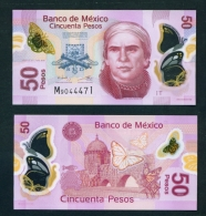 MEXICO  -  2016  50 Pesos  UNC Banknote - Mexico