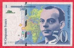 "50 Francs ""St Exupéry"" 1997 N ° S 031427162 ----F/TTB+ - 1992-2000 Last Series"