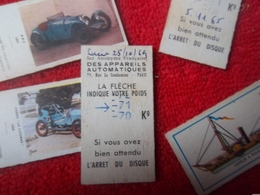 Lot De 45 Anciens Tickets De Pesée Sté Anonyme Française Des Appareils Automatiques Année 70 ! - Autres Collections