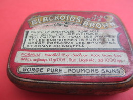 Boite Métallique Ancienne/Blackoïds Brown/Pastille Mentholée Suc Réglisse/O KIM Pharmacien/Paris/Vers 1950-1960 BFPP161 - Boîtes