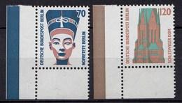 Berlin 1988 Mi. 814-15 ** Sehenswürdigkeiten Eckrand UL LUXUS  (20850 - [5] Berlín