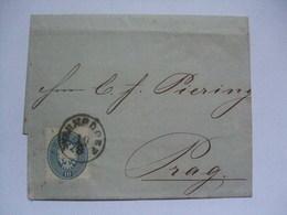 Austria - 1865 Wrapper - Bohmen - Warnsdorf To Prague - Covers & Documents