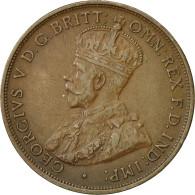 Monnaie, Australie, George V, Penny, 1915, Heaton, TTB+, Bronze, KM 23 - Penny