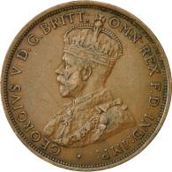 Monnaie, Australie, George V, Penny, 1915, Londres, TTB, Bronze, KM 23 - Penny