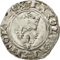 "Monnaie, France, Charles VI, Gros Dit ""florette"", Paris, TTB+, Duplessy 387A - 1380-1422 Charles VI Le Fol"