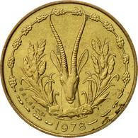West African States, 5 Francs, 1978, Paris, SUP, Aluminum-Nickel-Bronze, KM:2a - Ivory Coast