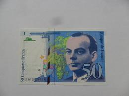 FRANCIA BILLETE 50 FRANCOS  1993  KM# 157b  UNC/SC - 1992-2000 Last Series