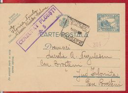 POSTCARD CENSORSHIP WW2 STAMP TRAIN BRUSTENI STATION IALOMITA, ROMANIA POSTAL STATIONERY BASARABIA - Covers & Documents