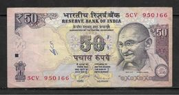 INDIA 2013 50 Fifty Rupees Note, Good Condition - India
