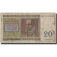 Billet, Belgique, 20 Francs, 1950, 1950-07-01, KM:132a, B - [ 6] Treasury