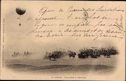 Cp Le Défilé, Cavalerie à Aérostat, Militärballon, Kavallerie - Vliegtuigen