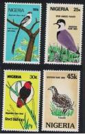 Nigeria Whydah Plover Bishop Francolin Rare Birds 4v SG#484-487 - Nigeria (1961-...)