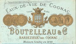16 - Charente - Barbezieux - Eaux-de-Vie De Cognac - Boutelleau & C° - Tarifs Pour L'Exportation - Alcohols