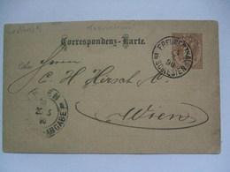 Austria - 1890 Postcard - Freudenthal (Bruntal Bohmen) To Wien Central Abgabe Postmark - Covers & Documents