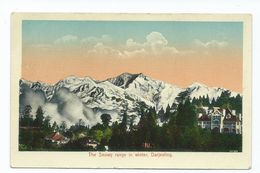 India Postcard View Of Snowy Range Darjeeling. Winter. Publ. H.a.mirza And Sons Delhi.coloured Rp Unposted - India