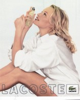 CARTE  PUBLICITAIRE ,,,,,PARFUM  LACOSTE ,,,,,TBE,,,,,, 14 X17 CM - Perfume & Beauty