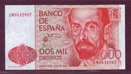 ESPAGNE - 2000 PESETAS Juan Ramon Jimenez - 22/07/1980 (1983) - P.159 - [ 4] 1975-… : Juan Carlos I
