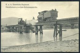 AUSTRIA  WW1 Eisenbahnregiment , Vintage Realphoto Postcard - Autriche