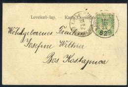 NOVI SISAK 1900. Vintage Postcard With Hungarian Tpo Pmk - Kroatië