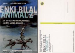 BILAL : Carte Expo ANIMAL Z - Bilal